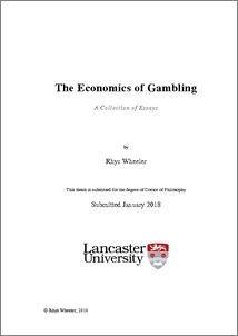 The Economics Of Gamblinga Collection Of Essays  Lancaster Eprints Official
