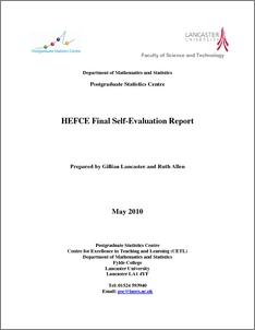 Postgraduate Statistics Centre HEFCE Final Self Evaluation Report