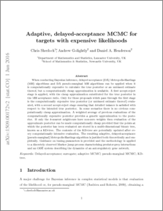 Adaptive, delayed-acceptance MCMC for targets with expensive